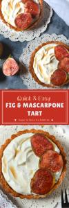 Fig and Mascarpone Tart:
