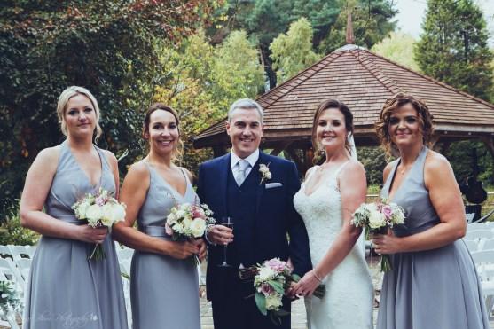 bridesmaids bride groom group photos