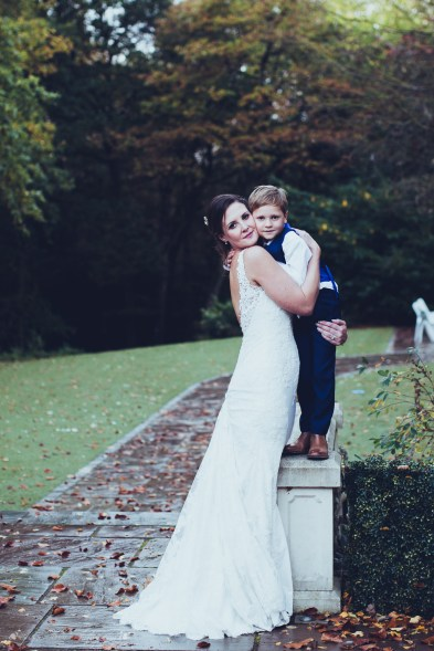 mom and son bride