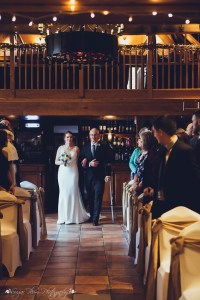 bride, walking down the aisle, the hundred house