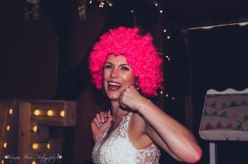 bride, fun, crazy, wig, props