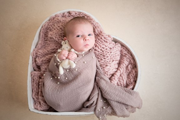 newborn baby girl photography dudley west midlands heart bowl pearl layers
