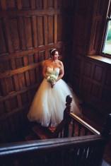 haden hill house wedding photography bride staircase