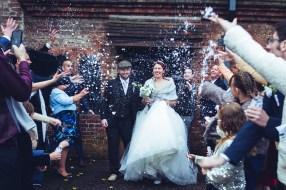 haden hill house wedding photography confetti shot