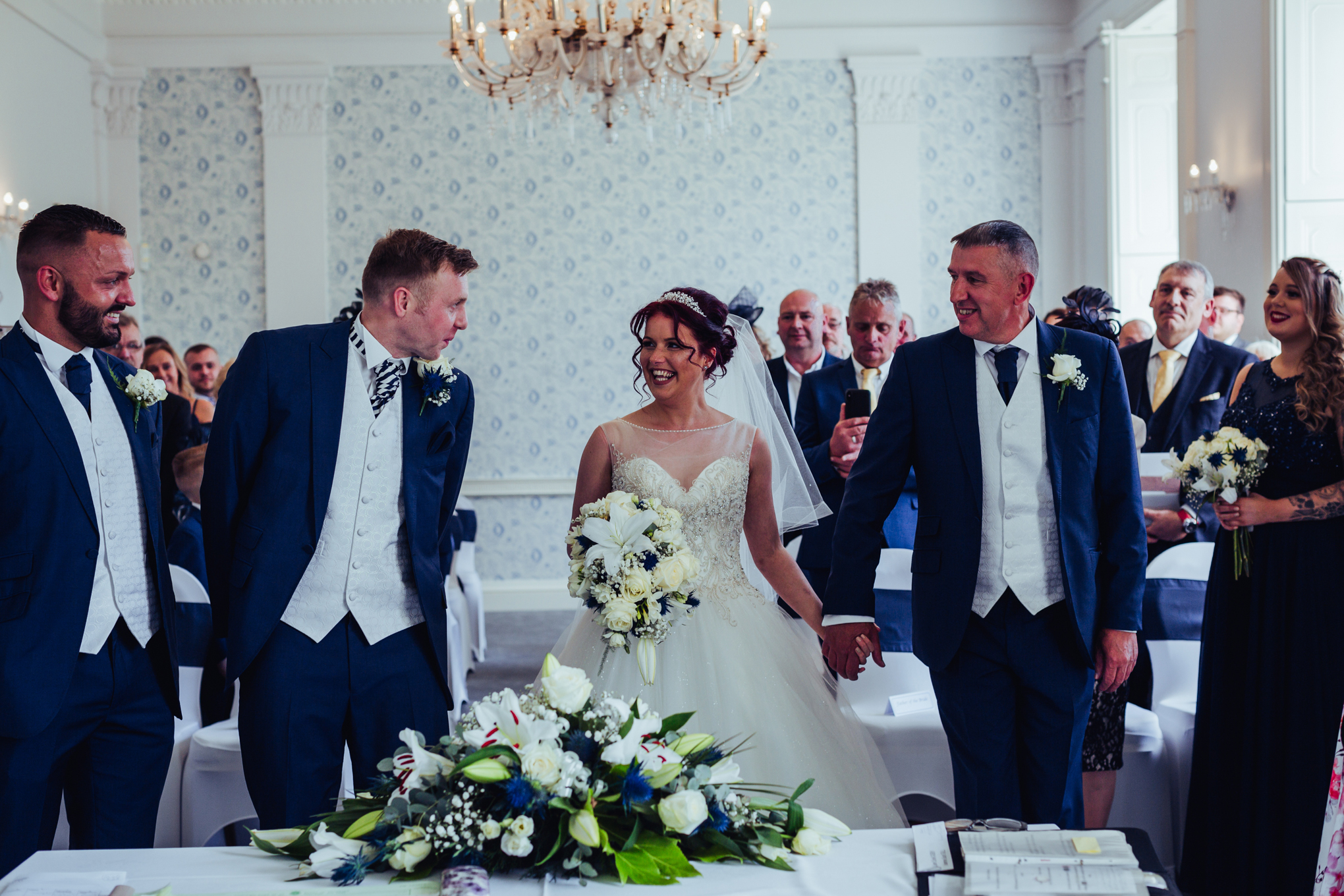 Himley Hall Wedding Photography Photographer ceremony
