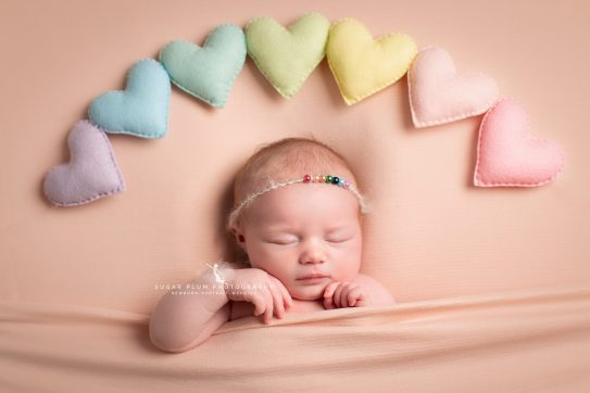 newborn photography dudley west midlands baby photography rainbow prop