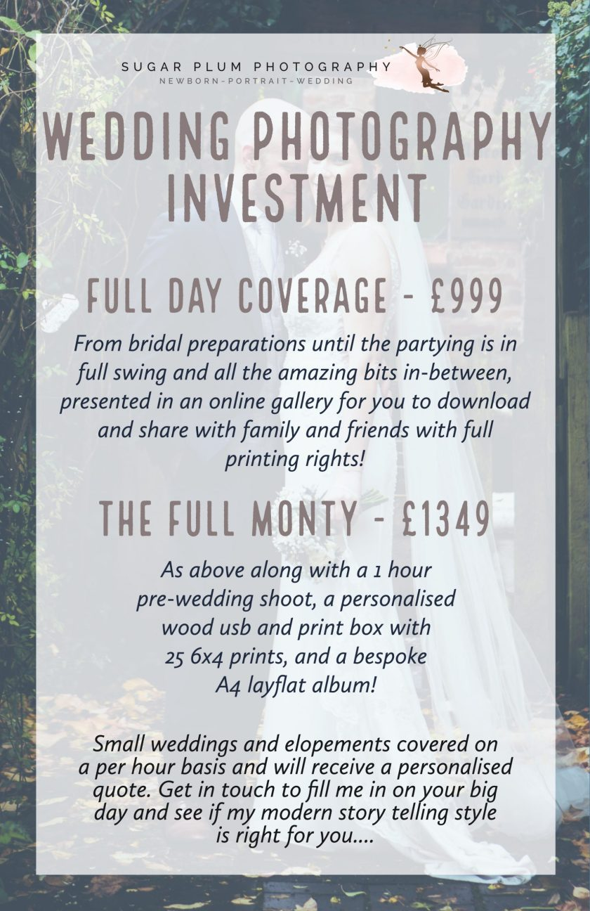 wedding photography investment full day coverage pricing west midlands dudley wedding photographer