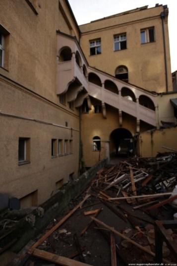 Deutscher Hof Abriss #8 - Die Treppe dürfte erhalten bleiben