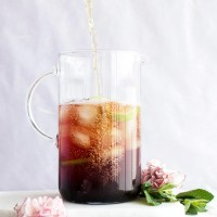 Cold brew mint blueberry iced tea