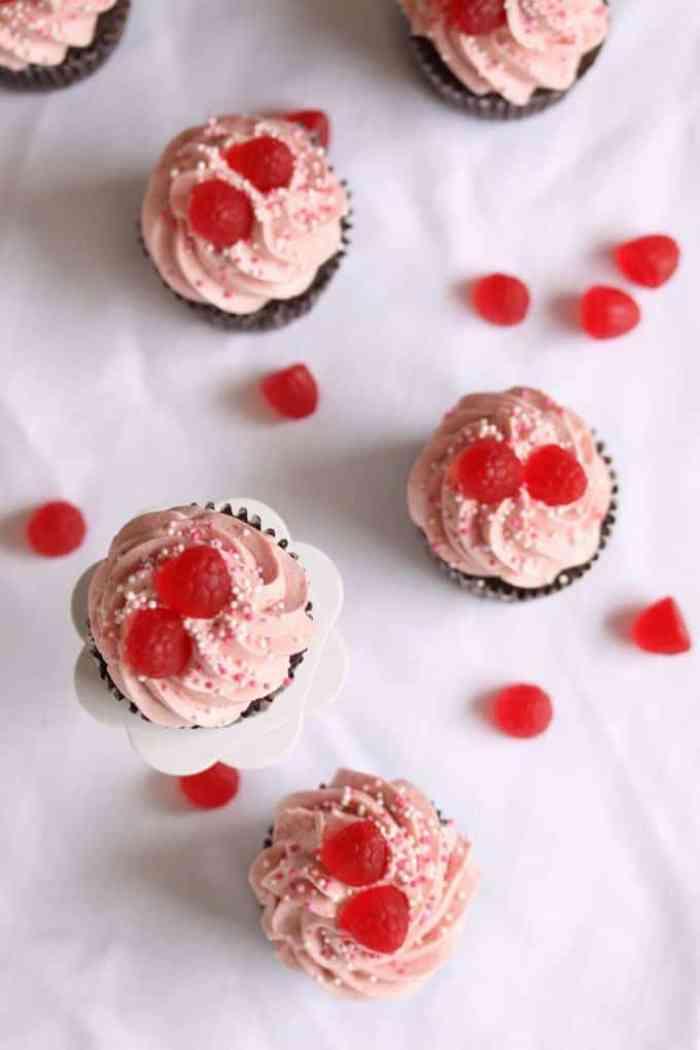 Choc Rasp Cupcakes 3