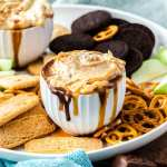 Snickers Dip is a dessert dip, loaded with all your favourite snickers flavoured bits.