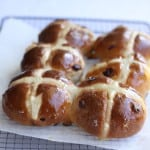White Chocolate & Cranberry Hot Cross Buns