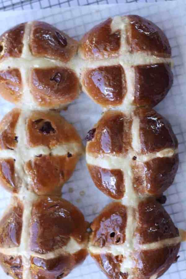 White Chocolate & Cranberry Hot Cross Buns