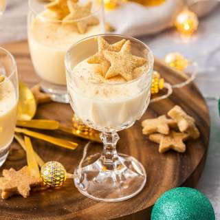 Boozy Eggnog Panna Cotta by Sugar Salt Magic