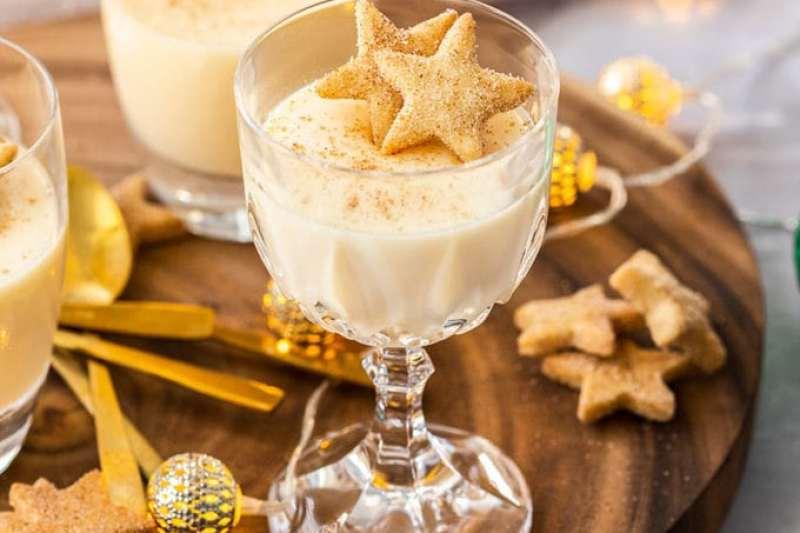 Boozy Eggnog Panna Cotta by Sugar Salt Magic
