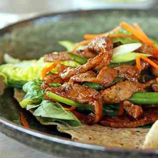 Honey Pepper Pork Wraps (Tortillas)