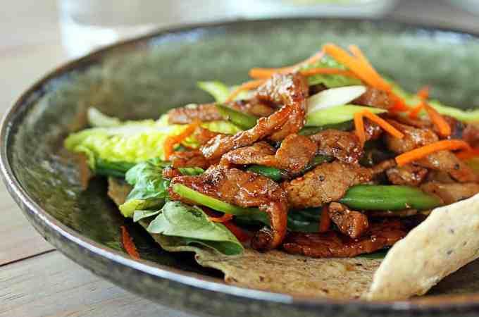 Honey Pepper Pork Wraps by Sugar Salt Magic