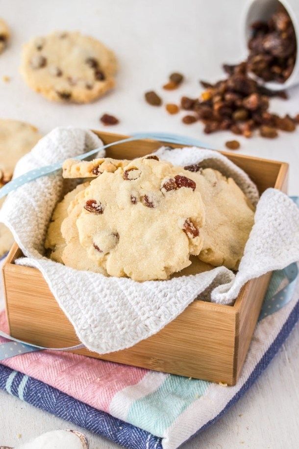 The absolute best Sultana Cookies. Buttery, soft and chewy all at once, these fruit cookies will become a family favourite.