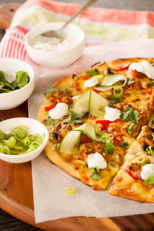 Tandoori Chicken Pizza by Sugar Salt Magic