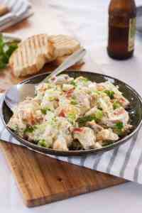 Simple Potato Salad with Crispy Prosciutto