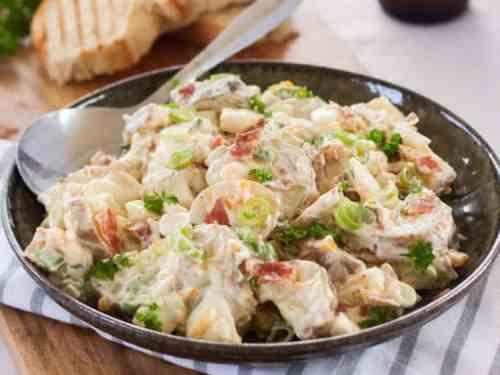 Simple Potato Salad with Crispy Prosciutto
