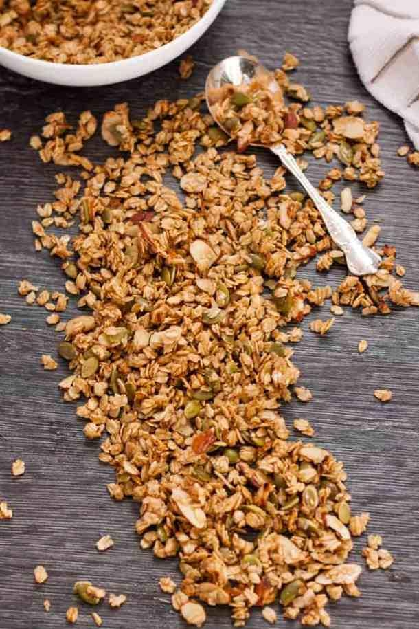 Quick Stovetop Maple Granola #granola #muesli