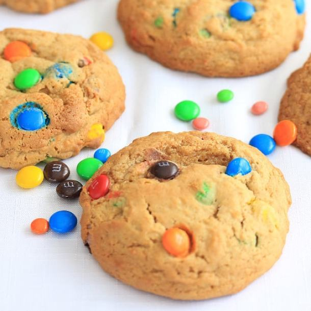Monster M&Ms Cookies by Sugar Salt Magic