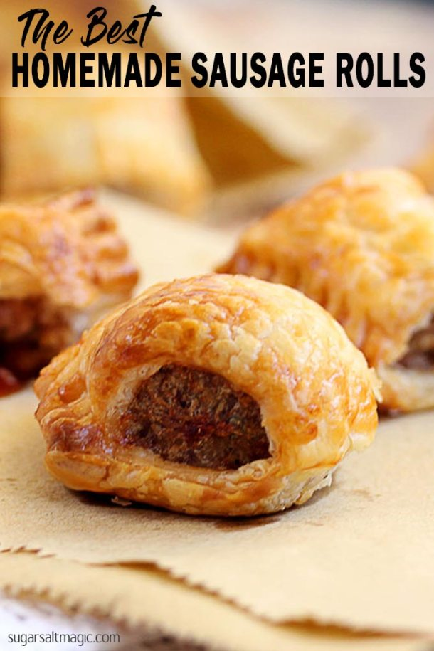 An easy 5 ingredient recipe for the best homemade sausage rolls ever. Such a perfect, easy snack or appetiser. We serve these every Christmas.