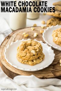 White Chocolate Macadamia Cookies are an absolute classic. The best ever cookie recipe that's crispy on the edges, a little chewy in the middle and loaded with white chocolate and macadamias.