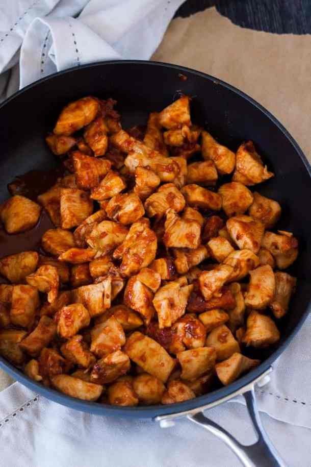 Korean Spicy Chicken in the pan