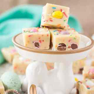 This Funfetti Vanilla Easter Fudge using my best fudge recipe, is one of the most perfect sweet Easter treats to share with your family.