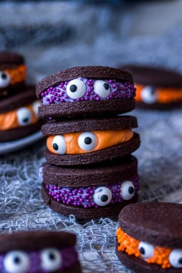 15+ Easy Halloween Cookies - Easy Recipes & Ideas for ...   Fun Halloween Monster Cookies