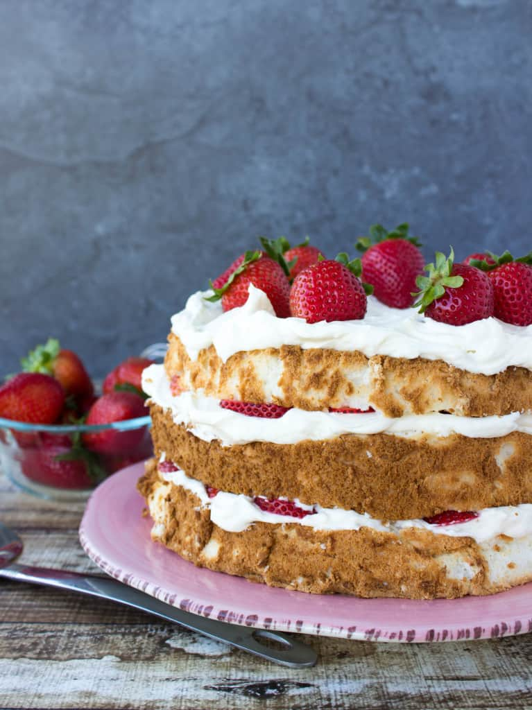 Lemon Layered Angel Food Cake