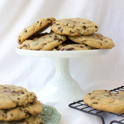 cookies on cake stand