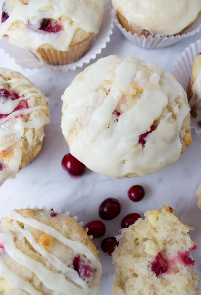 Cranberry White Chocolate Muffins--so soft and fluffy