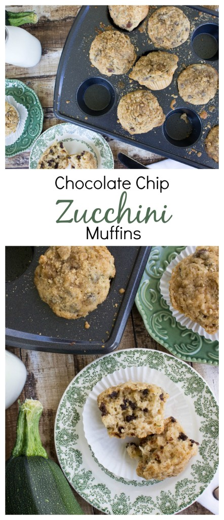 Zucchini Muffins Studded with Chocolate Chips
