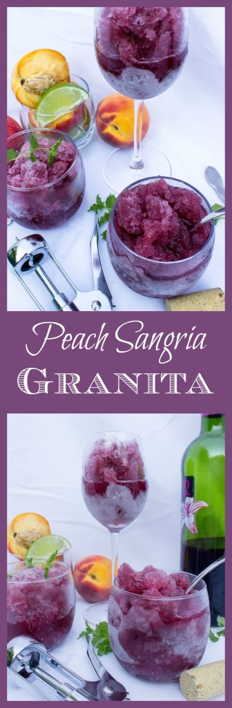 Peach Sangria Granita--It's like a wine snowball!