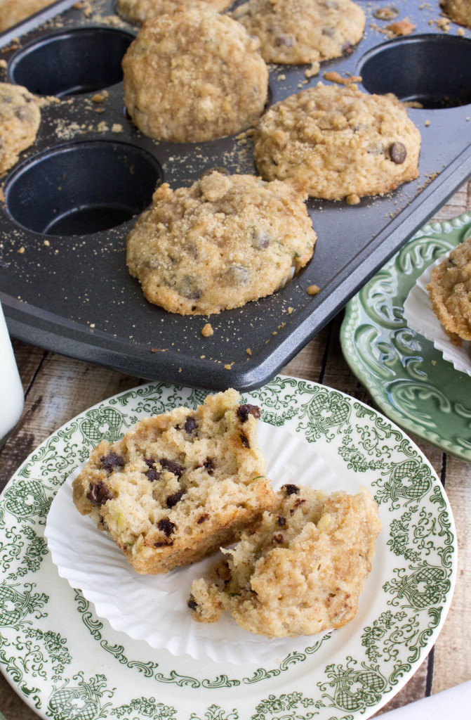 zucchini muffins with chocolate chips-10