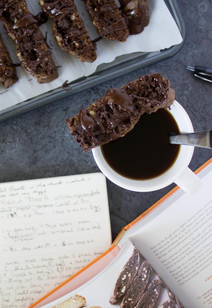 biscotti slice on coffee muf
