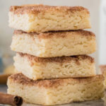 stack of snickerdoodle blondies on marble