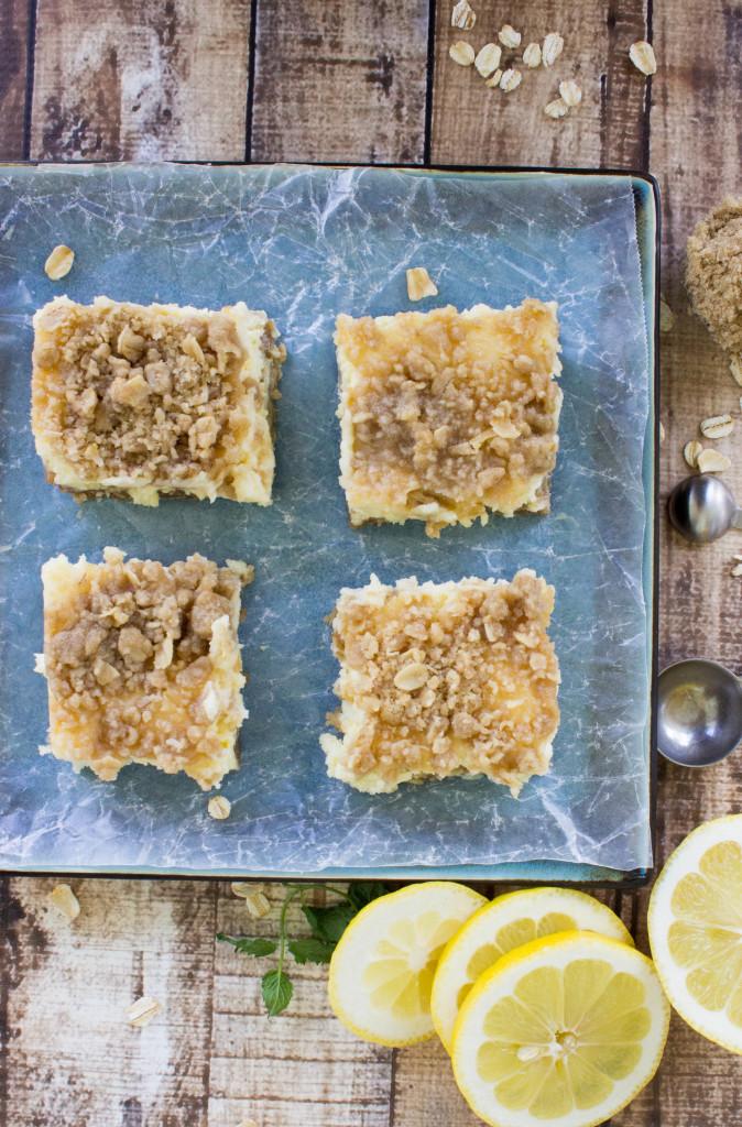 Lemon Crumble Bars || SugarSpunRun