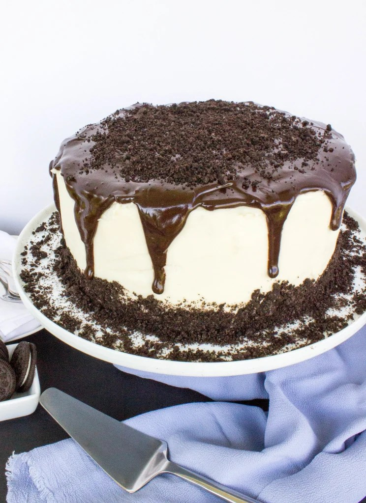 Oreo Cheesecake Stuffed Chocolate Cake