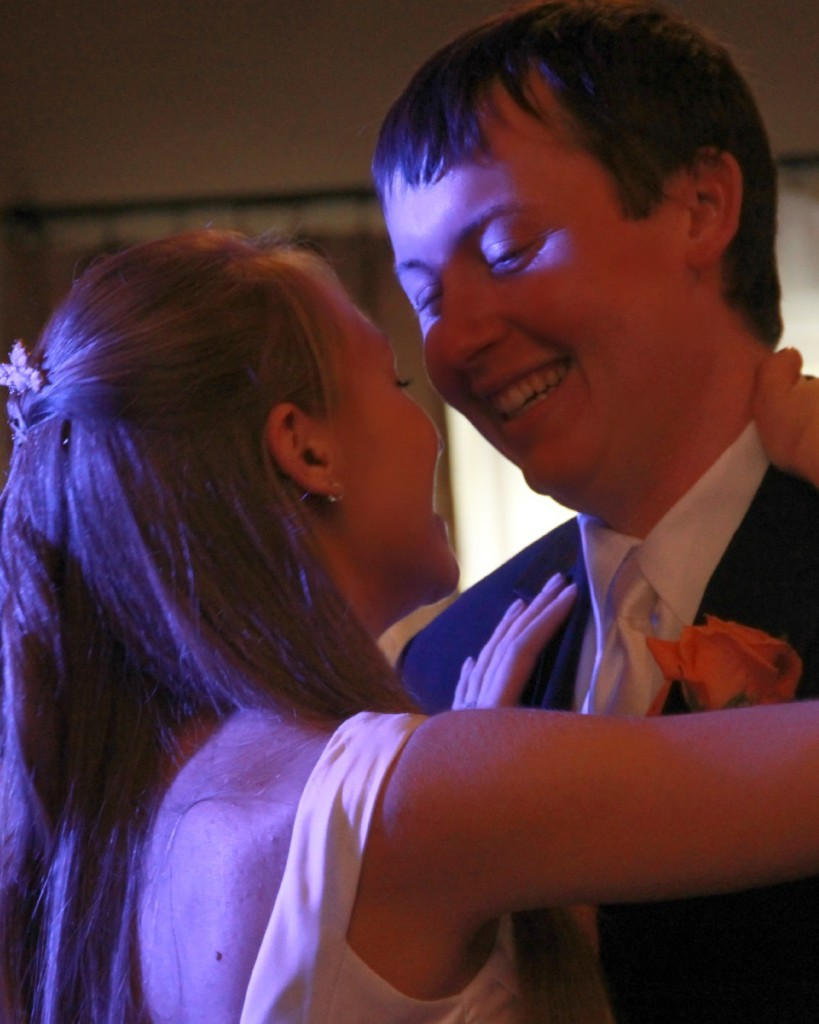 newlyweds at first dance