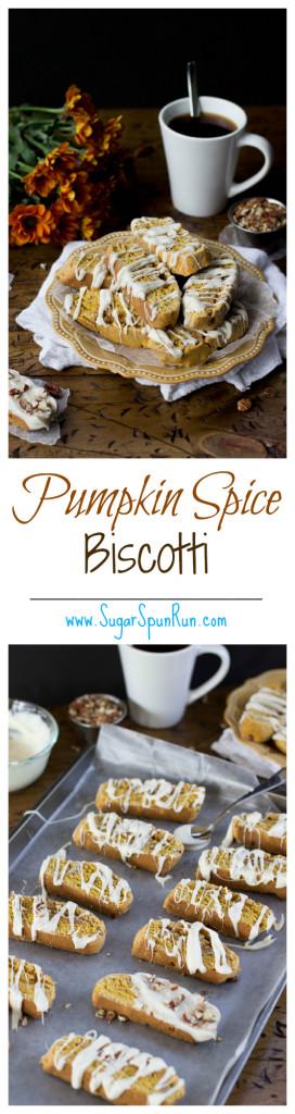 Pumpkin Spice Biscotti SugarSpunRun