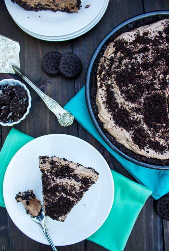 Cookies & Cream Mocha Ice Cream Pie