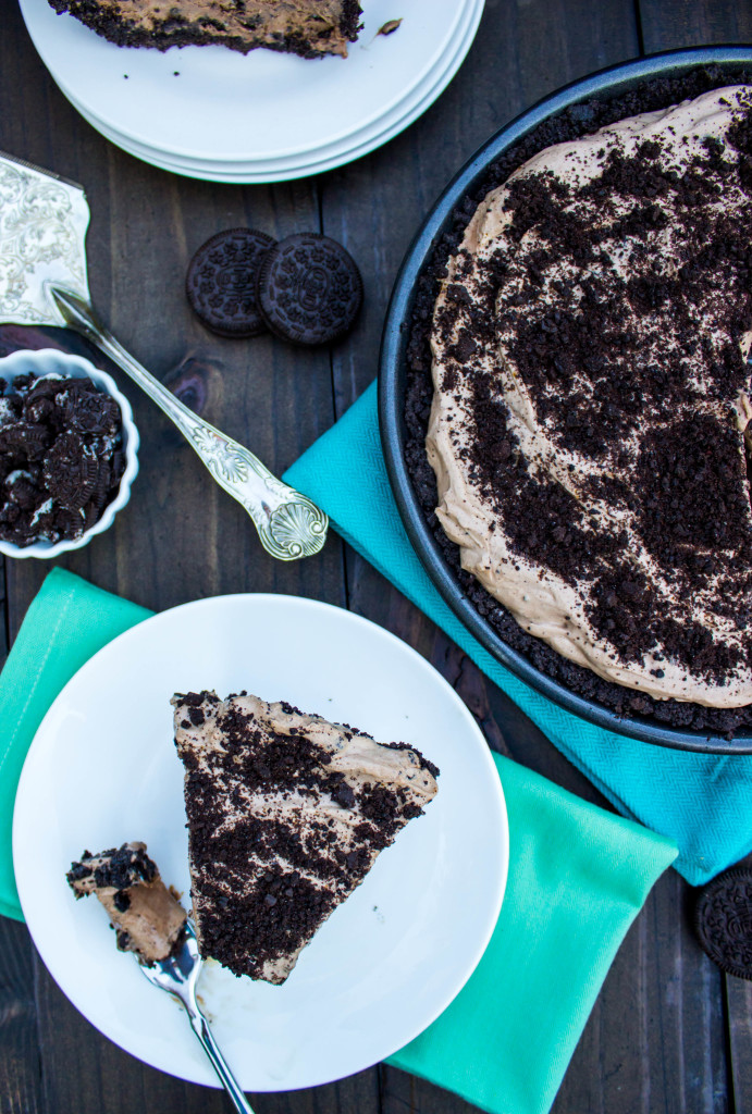 Cookies & Cream Mocha Ice Cream Pie || SugarSpunRun