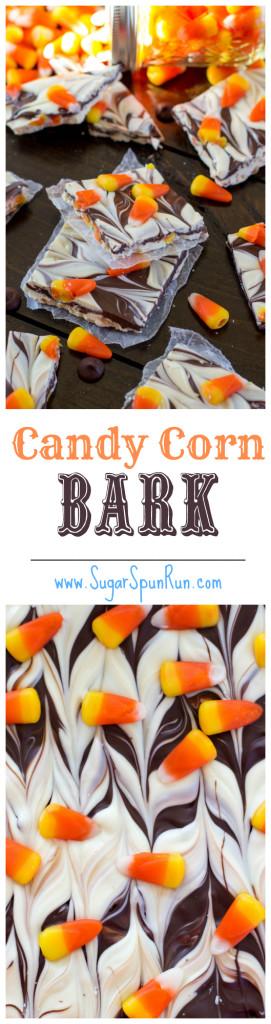 Easy candy corn bark--perfect for Halloween! SugarSpunRun