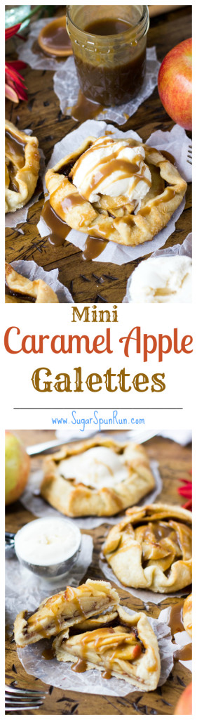Mini Caramel Apple Galettes SugarSpunRun