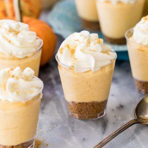PUMPKIN pie cheesecake dessert shooters