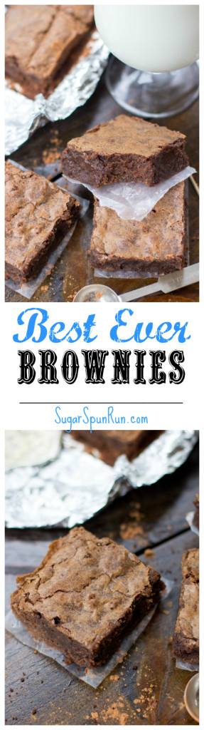 The chocolatiest, fudgiest, BEST brownies ever made